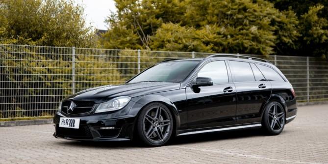 Mercedes C63 mit H&R Gewindefahrwerk