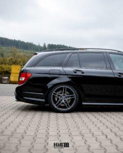 Mercedes C63 Tieferlegung Hinterachse H&R Gewindefahrwerk
